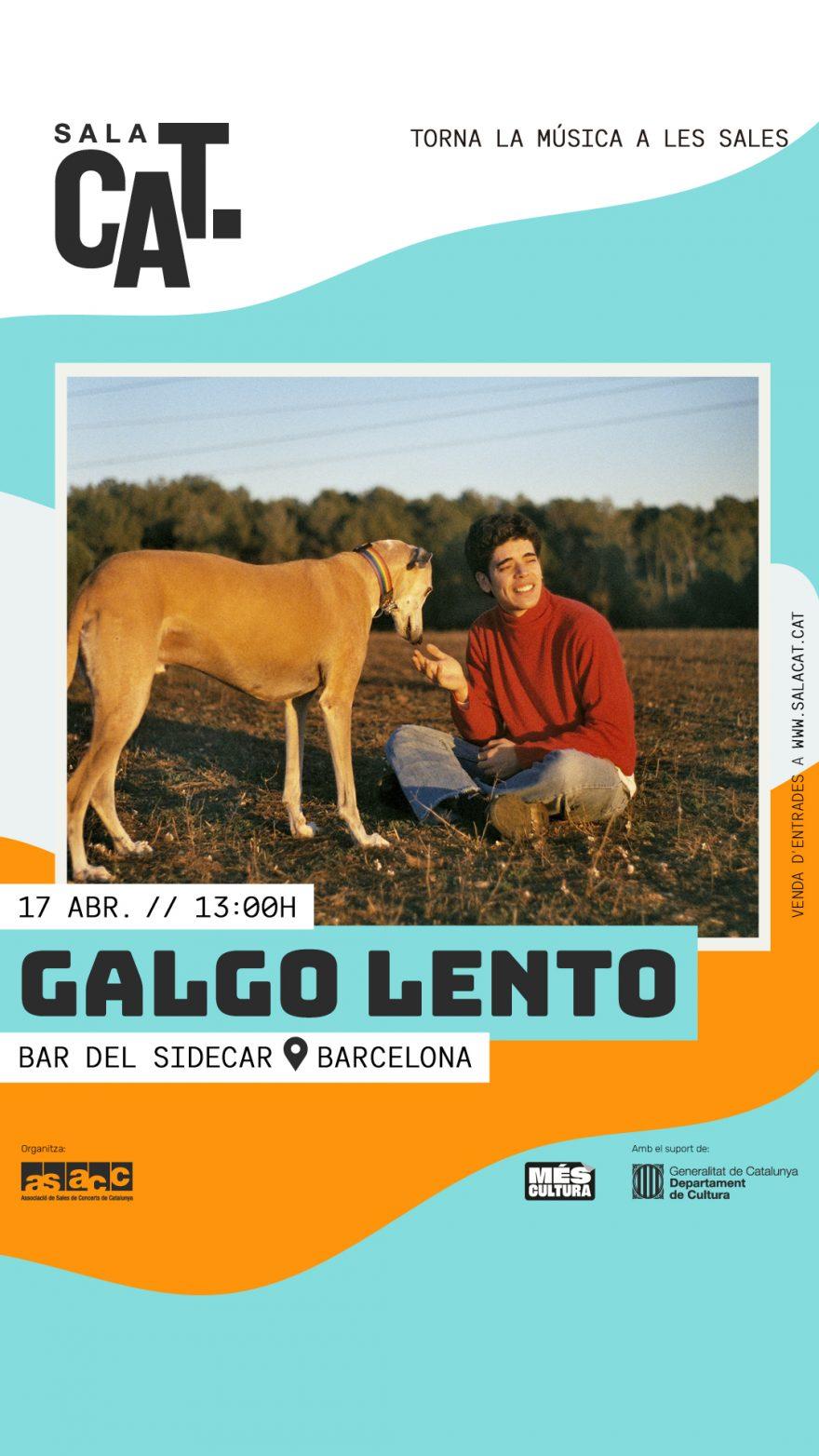 Cartell del concert de Galgo Lento a Sidecar